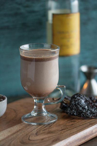 Mexican Hot Chocolate on cutting board