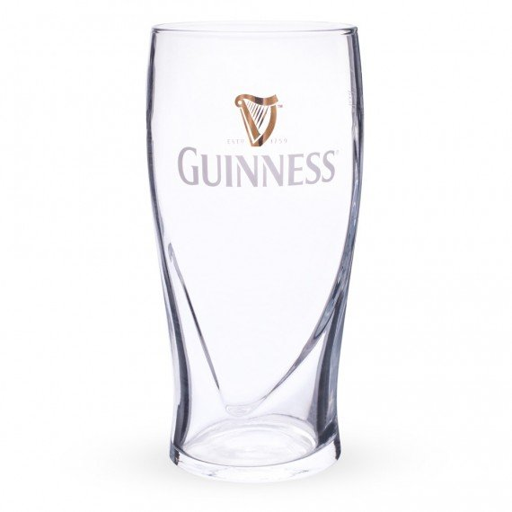 The 20-oz Imperial Guinness pint glass
