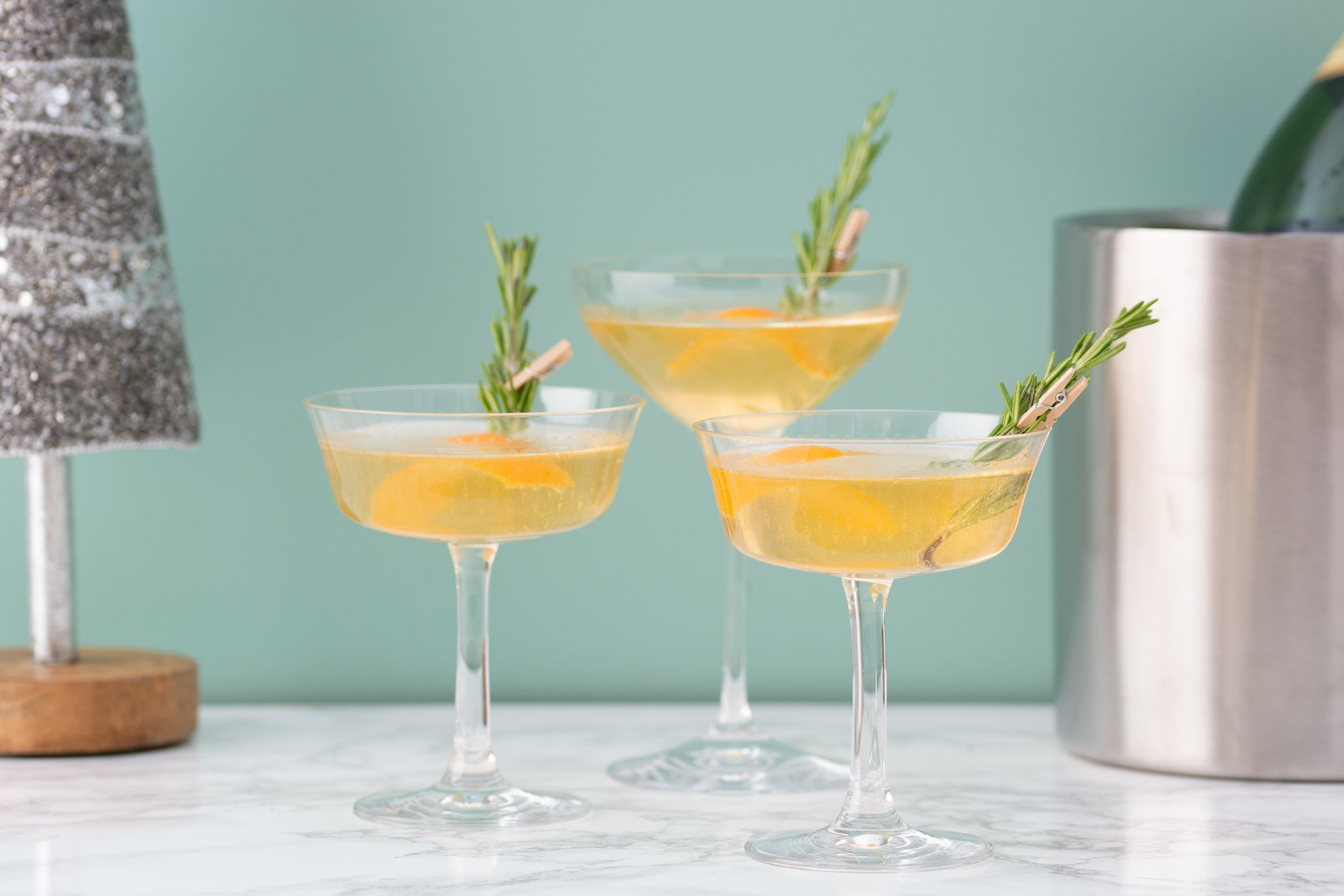 winter champagne cocktails