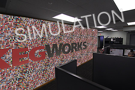Kaps for KegWorks Wall