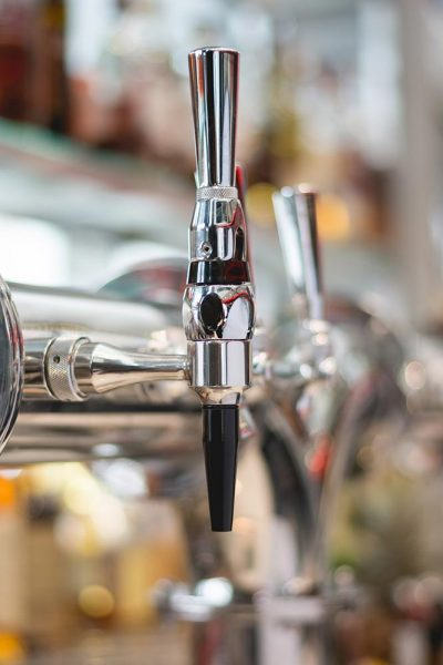 A stout faucet, a necessary component to pouring Guinness on tap.